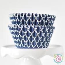 <b>36 pcs</b>/<b>lot</b> Navy Blue Flower Wedding laser cut cupcake wrappers ...