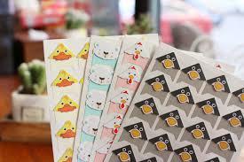 <b>96 pcs</b>/lot 4 sheets DIY <b>Cute</b> Colored animals Corner Paper Stickers ...