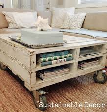 upcycled pallet coffee table diy painted furniture redo click for more build pallet furniture