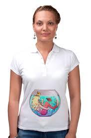 Рубашка Поло <b>Русалка</b> в аквариуме #2820965 за 1 100 руб. в ...