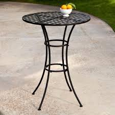 axon black wrought iron outdoor bistro patio table with timeless round tabletop black wrought iron patio