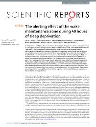 (PDF) The alerting effect of the wake maintenance zone during 40 ...
