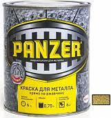 <b>Краска для металла Panzer</b> молотковая 0,75л, золотистый за ...