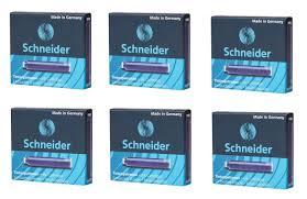 <b>Картриджи</b> чернильные SCHNEIDER, 6 коробок по 6 шт, синие