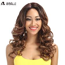 <b>Noble</b> Wigs For Black Women Wavy Synthetic <b>Lace Front Hair</b> 22 ...