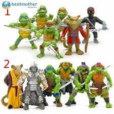 BM <b>6pcs</b>/<b>lot</b> Teenage Mutant Ninja Turtles TMNT Mini Figures Action ...