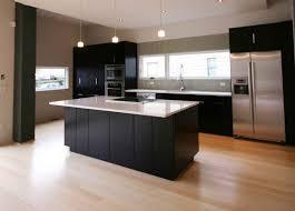bamboo flooring kitchen flashing white counertop of black kitchen cabinetry idea above laminat