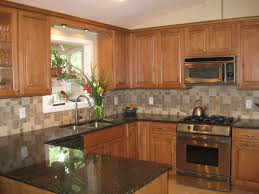 kitchen cabinets with granite countertops: kitchen kitchen backsplash ideas with maple cabinets small