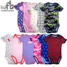 <b>0</b> 2years 5pieces/<b>lot</b> short Sleeved Baby Infant cartoon bodysuits for ...