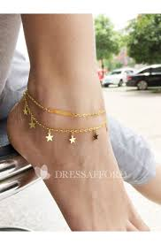 Simple And Exquisite Double <b>Metal</b> Tassel <b>Anklet Bracelet</b> - Dress ...