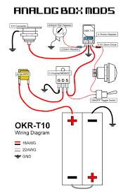 diy box mod kit okr t10 regulated 10a 50w drill template