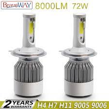 <b>BraveWay H4 Led HeadLight</b> Car HeadLamp <b>Led</b> H7 H11 9005 ...