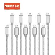 Online Shop 10-Pack <b>Suntaiho</b> Micro USB Cable 2.4A Nylon ...