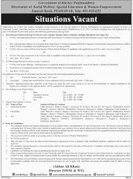 social welfare special education and women empowerment jobs 27 11 2015