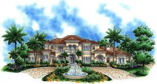 Mar A Lago Mediterranean House Plan    ALP  C   Chatham Design        graced by five acres of a richly vegetated estate while overlooking an expansive lake view  It    s sure to be the talk of the town   its rich finishes