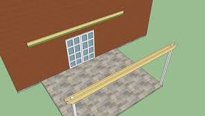 Attached pergola plans   HowToSpecialist   How to Build  Step by    Building attached pergola plans