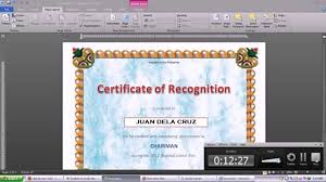 ms word tutorial part greeting card template inserting and how how to make certificates in word shopgrat a template office 2010 sample prin how to