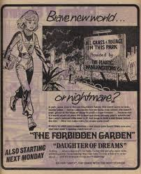 a resource on jinty artists writers stories excellent and it s not that often that you get a single page advert for an upcoming story in the same comic here is one for the forbidden garden which of course
