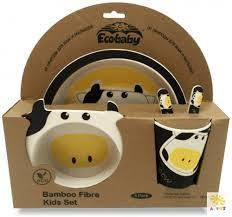 Комплект <b>посуды Eco Baby</b> Буренка 5 предметов - купить в ...