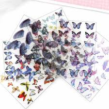 <b>5pcs</b> Butterfly Flap Transparent Material With Use Of <b>Epoxy</b> Mold ...