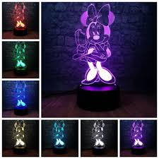 <b>Dropshipping New 2019</b> 3D Mickey Minnie Mouse LED Kids Night ...