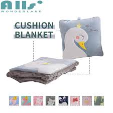 Flamingo <b>Animal Pattern</b> Cute Cushion Pillow <b>Blanket Multifunction</b> ...