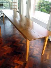 long wood dining table:  small o medium dining table french harvest dining table main view sally schneider making a long narrow dining