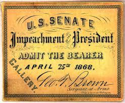 「1868, president andrew jackson impeached」の画像検索結果