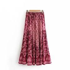 Boho Hippie Floral Beach Skirt in 2020   <b>Long skirts</b> for women ...