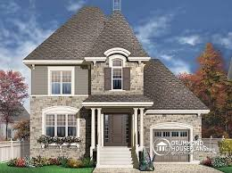 House plan W detail from DrummondHousePlans comfront   BASE MODEL bedroom manor for narrow lot   garage and en suite