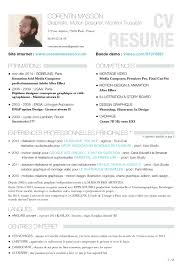cv resume corentin masson corentin masson resume video editor motion designer 1
