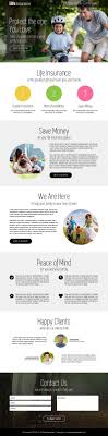 converting insurance lead generation landing page design templates life insurance quote service call to action