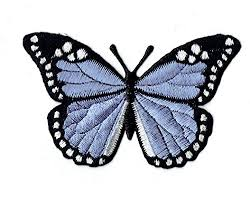 Large - Lilac Purple/Black Monarch <b>Butterfly</b> - <b>Iron</b> on Applique ...