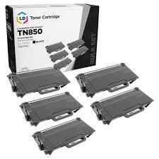 <b>5</b>-<b>Pack</b> Brother TN850 High Yield Black <b>Compatible</b> Toner Cartridges