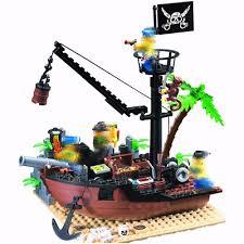 306 <b>178pcs Pirates</b> Ship Scrap Dock <b>Enlighten</b> 4 Figures Building ...