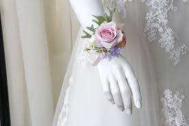 YO CHO <b>Wrist Corsage Pink Wrist Corsage</b> Bracelet Bridesmaid ...