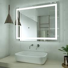 HAUSCHEN 32x40 inch LED Lighted <b>Bathroom Wall Mounted</b> ...