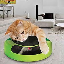 ASAB <b>Pet Cat</b> Kitten Catch The Mouse Plush Motion Chase <b>Toy</b> ...