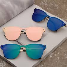 <b>2019 Vintage Rivet</b> Sunglasses Unisex Metallic <b>Retro</b> Colorful Film ...