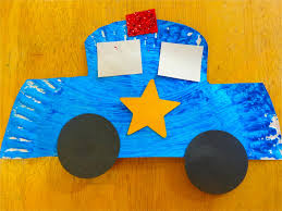 best images about car crafts and activities for kids on paper plate police car