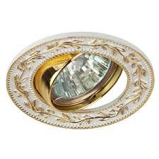 <b>Светильник точечный</b> круг GU5.3 50Вт белый/золото/металл ...