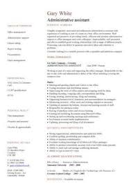 Administrative assistant  Resume and Resume templates on Pinterest