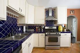 modern kitchen design blue modern small kitchen design with blue color ideas interior with cabine