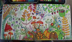 first double page from enchanted forest this took me two weeks to first double page from enchanted forest this took me two weeks to complete ur