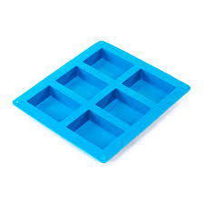 6 Bar Large <b>Rectangle Silicone Soap Mold</b> - CandleScience