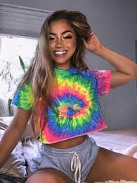 <b>hirigin</b> New Tie Dye <b>Print</b> Crop Tops Women T-Shirts <b>Summer</b> ...