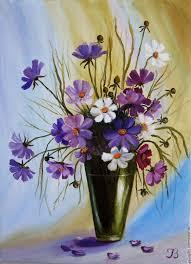 """""""Букет <b>космеи</b>"""" <b>Картина</b> маслом Цветы в вазе – заказать на ..."""