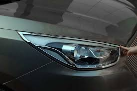 For Hyundai ix35 2013 2014 2015 <b>Chrome Front Rear Headlights</b> ...