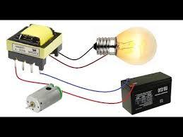 <b>12V</b> to 220V Inverter || Make <b>DC to AC</b> Converter with <b>DC</b> Motor ...