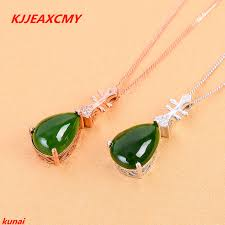 <b>KJJEAXCMY boutique jewels 925</b> silver Natural green jade pendant ...